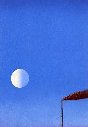 DAVID INSHAW Moon and Chimney, 1971