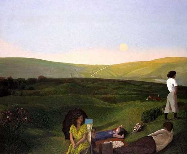 DAVID INSHAW Picnic on the Downs, 1984-854