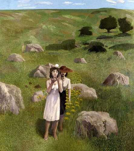 DAVID INSHAW Figures in a Wiltshire Landscape: A Moment, 1985-87