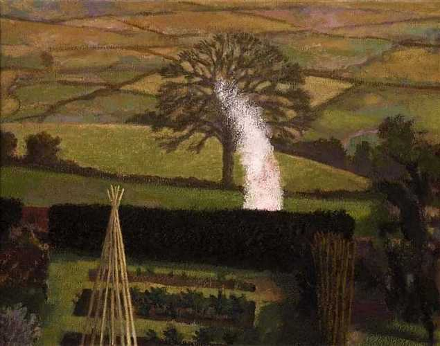 DAVID INSHAW Garden Bonfire and Landscape, 1992-95