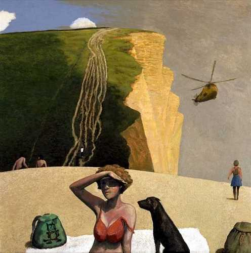 DAVID INSHAW West Bay with Helicopter (Sunburnt Shoulders), 1996-98