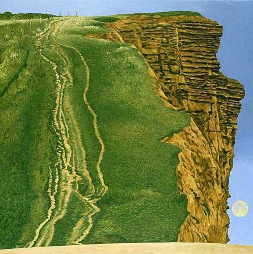 DAVID INSHAW East Cliff, West Bay, 2004