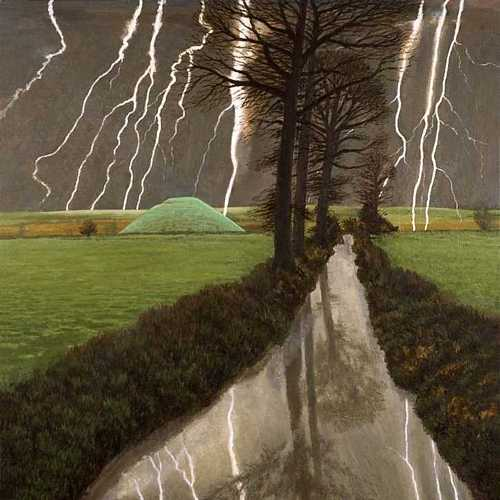 DAVID INSHAW Storm over Silbury Hill, 2008